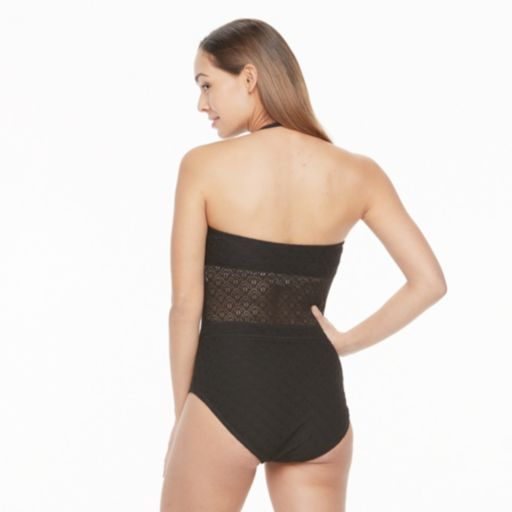 Women's Aqua Couture Crochet One-Piece Swimsuit
