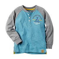 Baby Boy Carter's Embroidered Camping-Themed Henley Tee