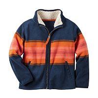 Boys 4-8 Carter's Patterned Microfleece Zip-Up Jacket