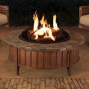 Sunjoy Round Slate Top Fire Pit