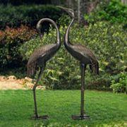 Sunjoy Crane Garden Statue 2 pc Set