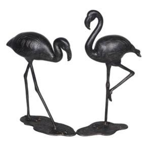 Sunjoy Flamingo Garden Statue 2-piece Set