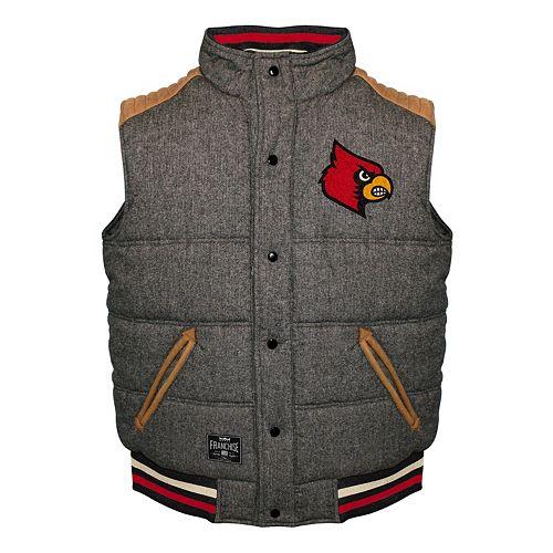 Men's Franchise Club Louisville Cardinals Legacy Reversible Vest