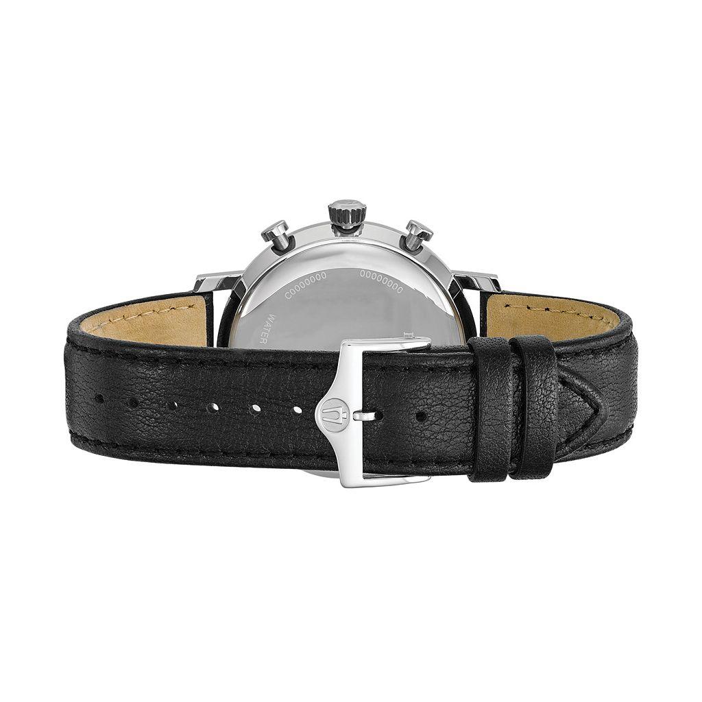 Bulova Men's Classic Leather Chronograph Watch - 96B262