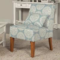 HomePop Slipper Accent Chair & Throw Pillow 2 pc Set