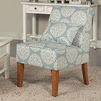 HomePop Slipper Accent Chair & Throw Pillow 2 pc Set