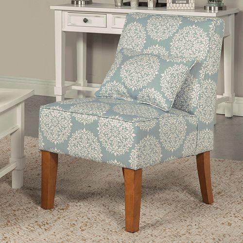 HomePop Slipper Accent Chair & Throw Pillow 2-piece Set