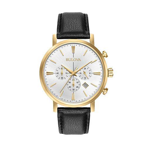 Bulova Men's Classic Leather Chronograph Watch - 97B155