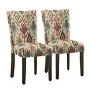 HomePop Pattern Parson Dining Chair 2 pc Set