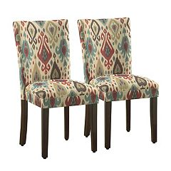 HomePop Pattern Parson Dining Chair 2-piece Set