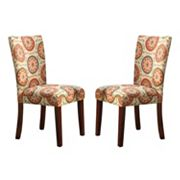 HomePop Pattern Parson Dining Chair 2 pc Set