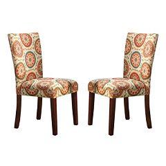 HomePop Pattern Parson Dining Chair 2-piece Set
