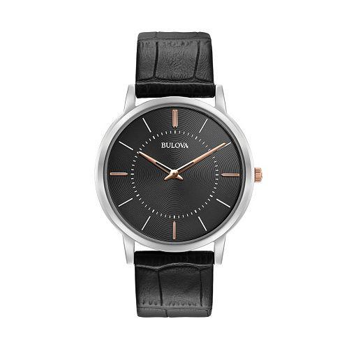 Bulova Men's Classic Ultra Slim Leather Watch - 98A167