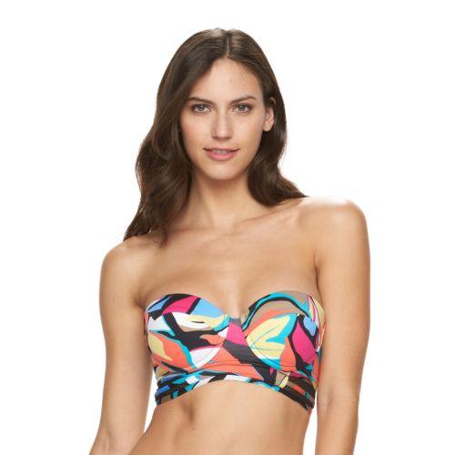 Women's Apt. 9® Abstract Underwire Bandeau Bikini Top