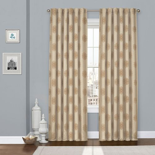 eclipse Blackout 1-Panel Percy Flock Thermaweave Window Curtain