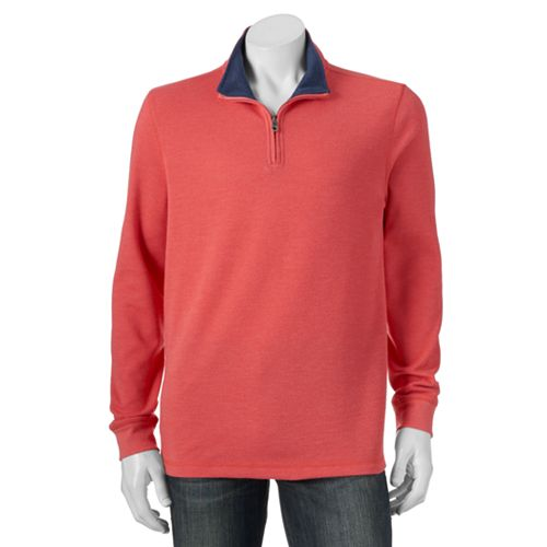 Men's Croft & Barrow® Ultrasoft Flatback Quarter-Zip Pullover