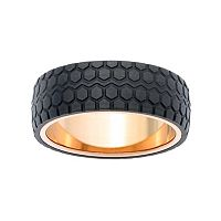 LYNX Men's Textured Carbon Fiber Ring