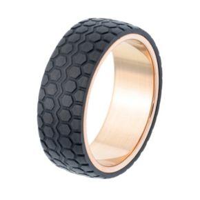 LYNX Men's Textured Carbon Fiber Ring