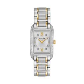 Bulova Women's Diamond Two Tone Stainless Steel Watch - 98R227