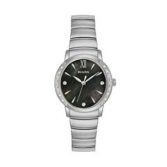 Bulova Women's Diamond Stainless Steel Watch - 96R213
