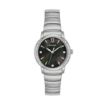 Bulova Women's Diamond Stainless Steel Watch - 96R213