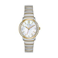 Bulova Women's Diamond Two Tone Stainless Steel Watch - 98R231