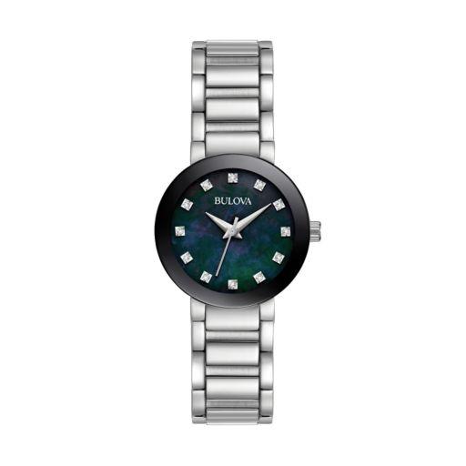 Bulova Women's Diamond Stainless Steel Watch - 96P172