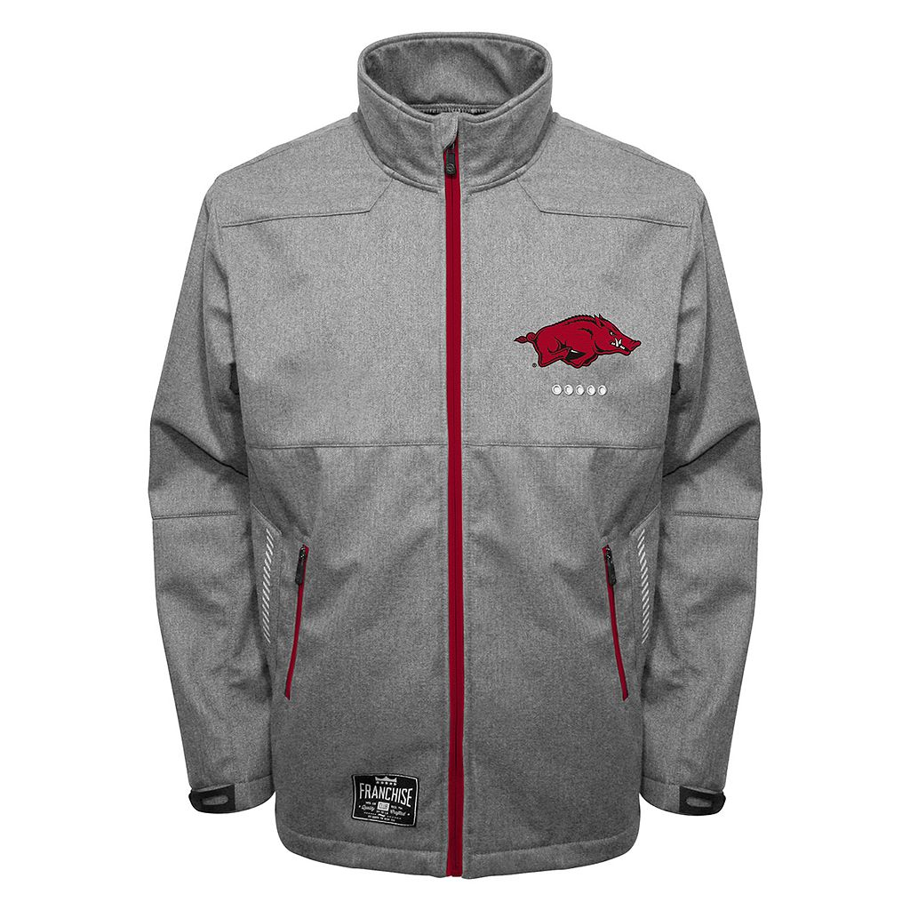 Men's Franchise Club Arkansas Razorbacks Tech Fleece Softshell Jacket