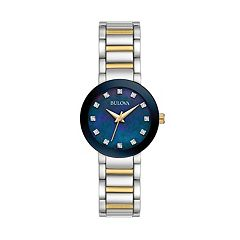 Bulova Women's Diamond Two Tone Stainless Steel Watch - 98P157
