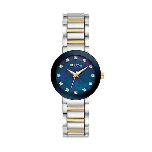 Bulova Women's Diamond Two Tone Stainless Steel Watch - 98P157