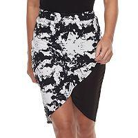Women's Soybu Printed High-Low Skirt