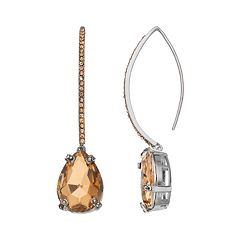 Simply Vera Vera Wang Brown Teardrop Threader Earrings