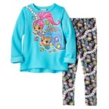 Toddler Girl Shimmer & Shine Graphic Top & Gem-Print Leggings Set