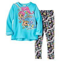 Toddler Girl Shimmer & Shine Graphic Top & Gem-Print Leggings Set