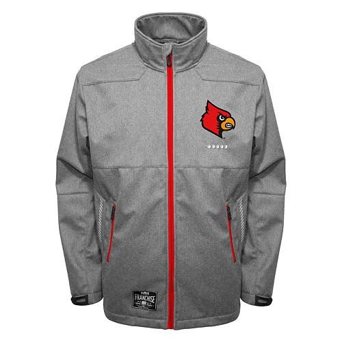 Men's Franchise Club Louisville Cardinals Tech Fleece Softshell Jacket