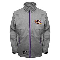 Men's Franchise Club LSU Tigers Tech Fleece Softshell Jacket