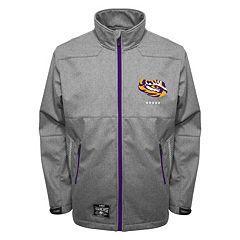 Men's Franchise Club LSU Tigers Tech Fleece Softshell Jacket