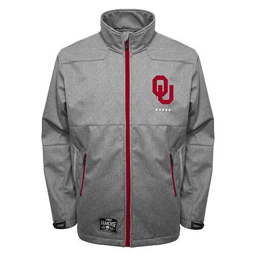 Men's Franchise Club Oklahoma Sooners Tech Fleece Softshell Jacket