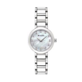 Bulova Women's Diamond Stainless Steel & Ceramic Watch - 98P158