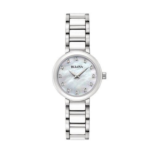 Bulova Women's Diamond Stainless Steel & Ceramic Watch - 98P158 pantip