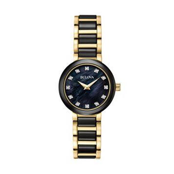 Bulova Women's Diamond Stainless Steel & Ceramic Watch - 98P159