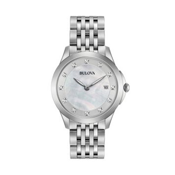 Bulova Women's Diamond Stainless Steel Watch - 96P174