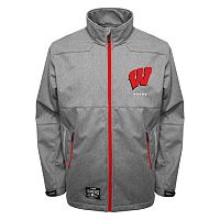 Men's Franchise Club Wisconsin Badgers Tech Fleece Softshell Jacket