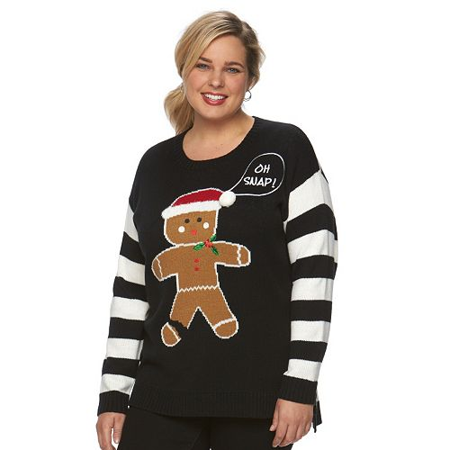 30268191343 Plus Size US Sweaters Christmas Crewneck Sweater