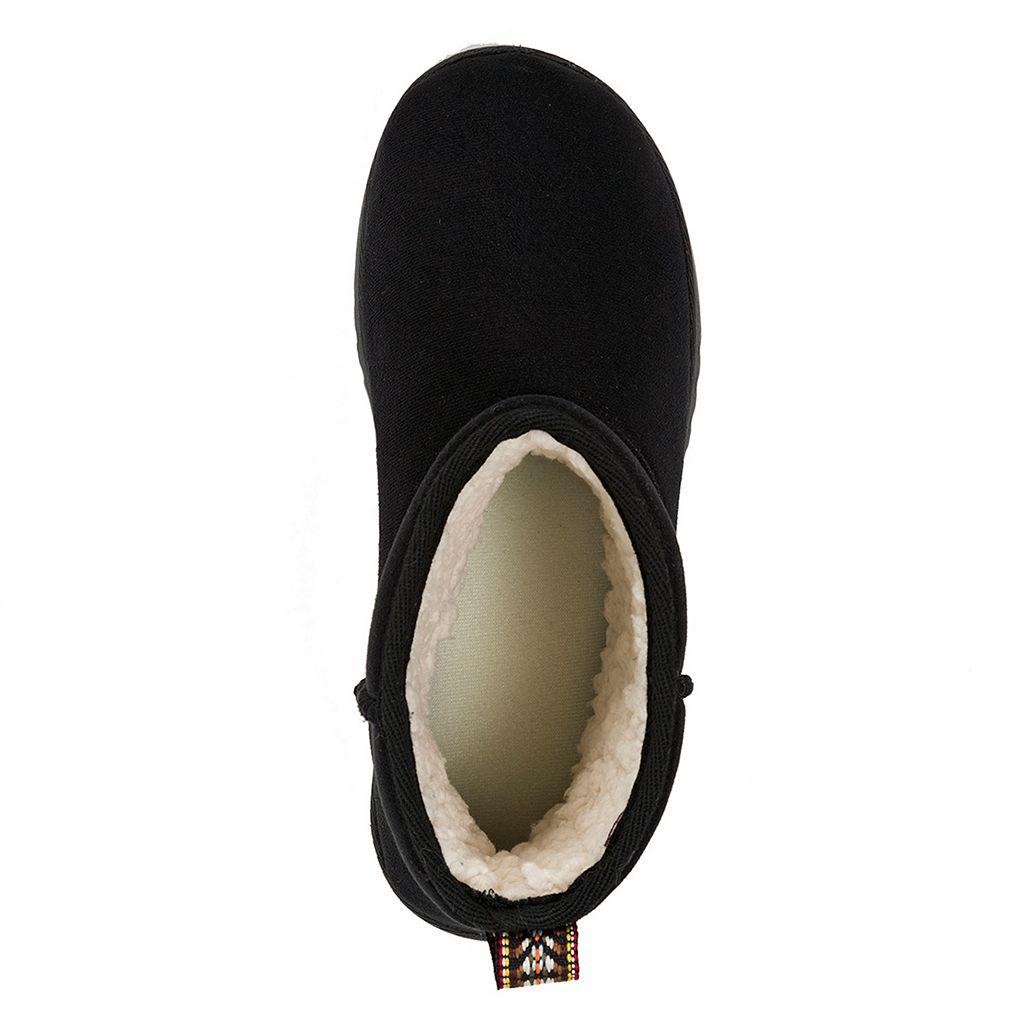Dearfoams Women's Microfiber Memory Foam Bootie Slippers