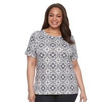 Plus Size Croft & Barrow® Essential Crewneck Tee