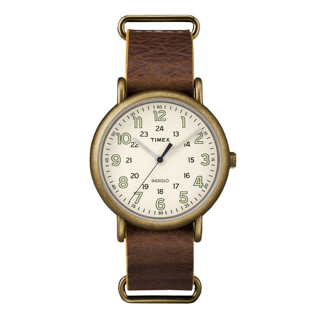 Timex Men's Weekender Leather Watch - TW2P85700JT