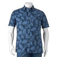 Big & Tall Croft & Barrow® Classic-Fit Patterned Crosshatch Button-Down Shirt