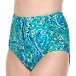 Plus Size Chaps Paisley High-Waisted Brief Bottoms