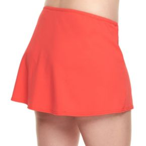 Plus Size Chaps Solid Skirtini Bottoms